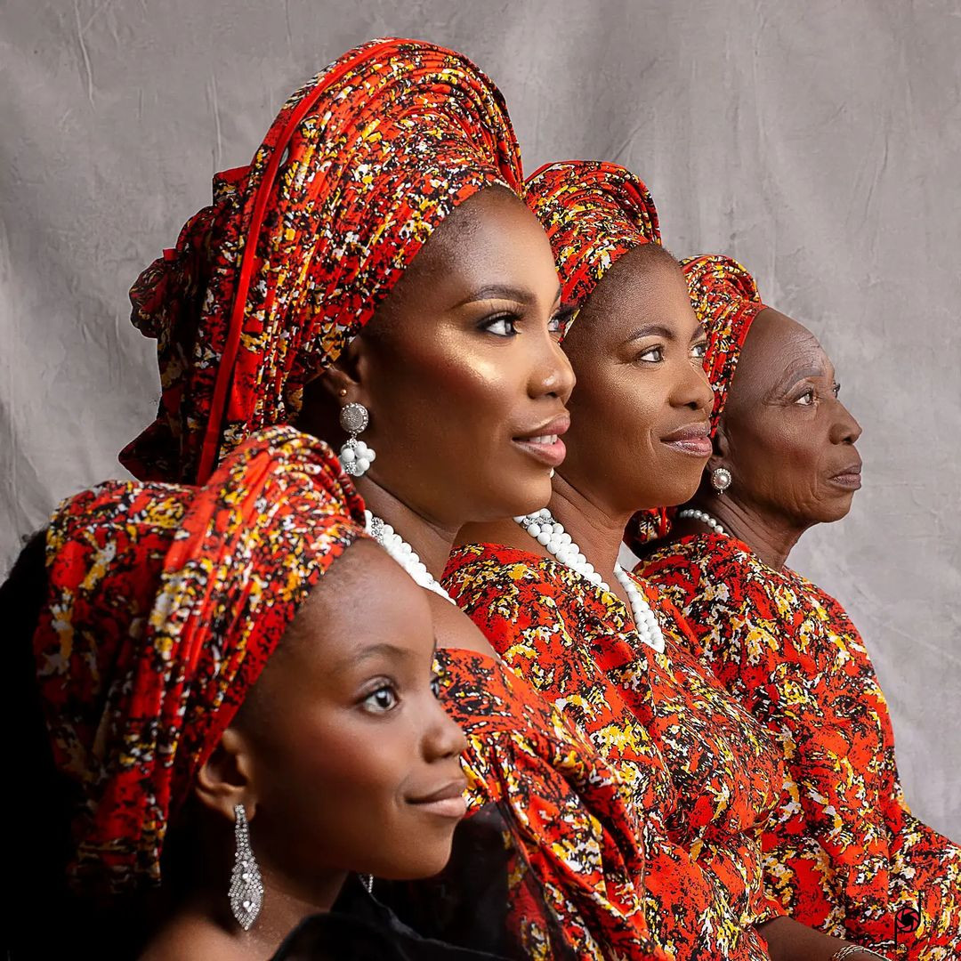 Beautiful four generations photos of a Nigerian family