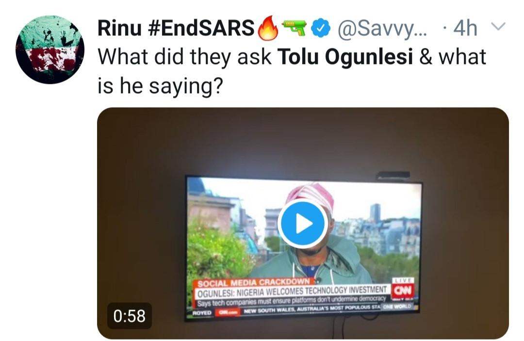 Tolu Ogunlesi stammers as he
