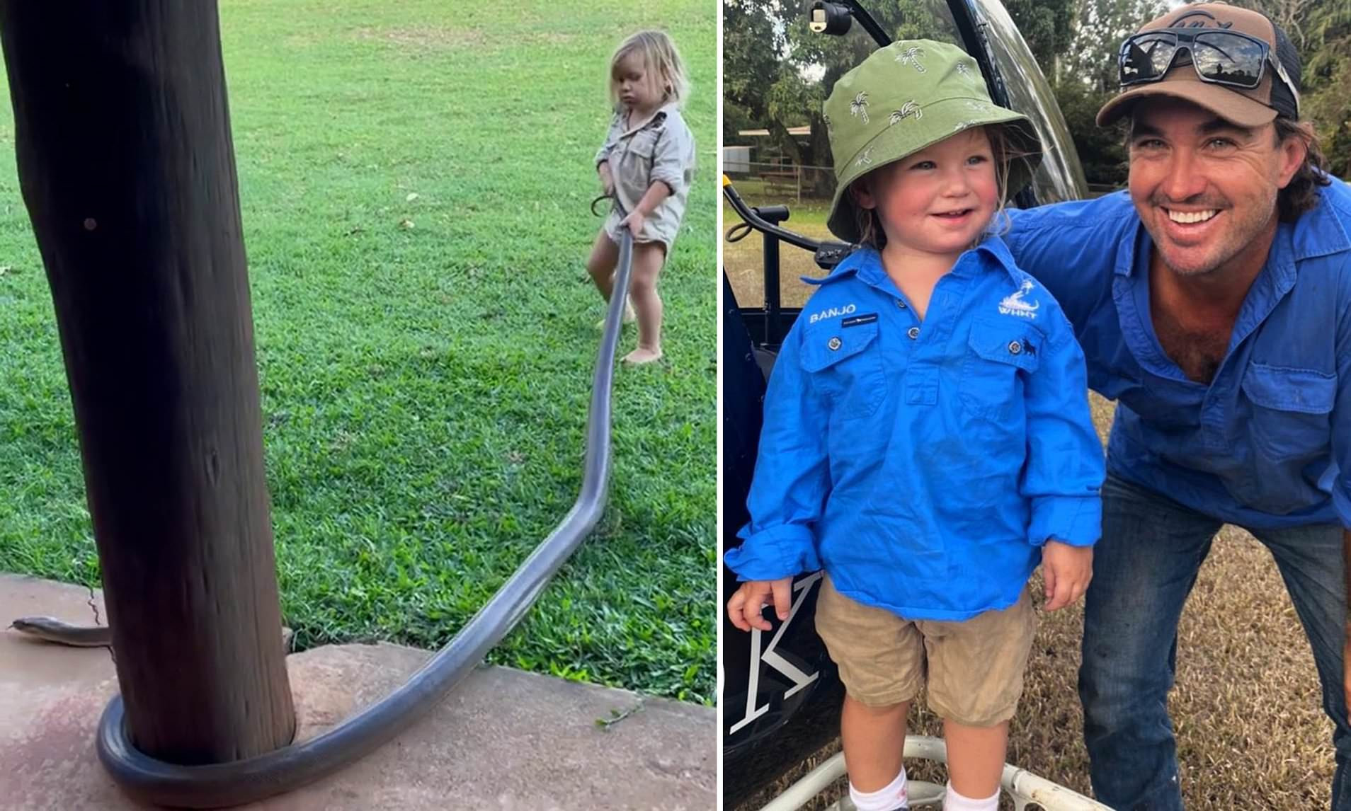 Wildlife host faces backlash for letting 2-year-old handle giant snake (video)
