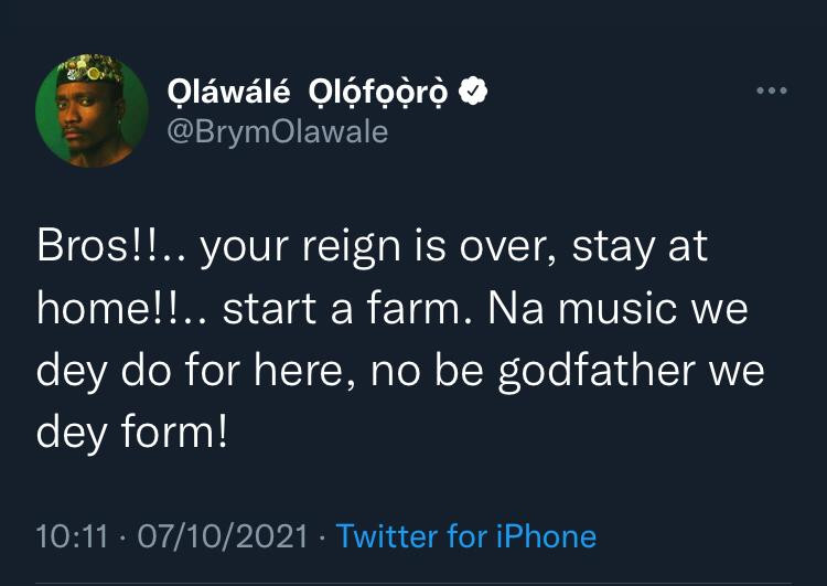 Update: Brymo reacts as singer 2Face Idibia threatens N1B defamation suit against him