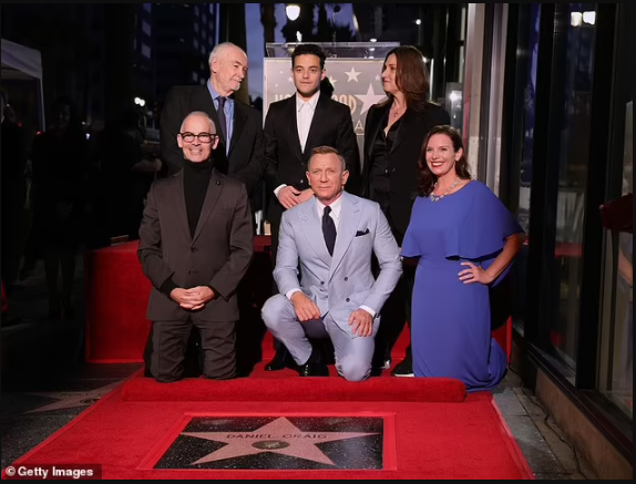 Daniel Craig honored with a star on the Hollywood Walk of Fame