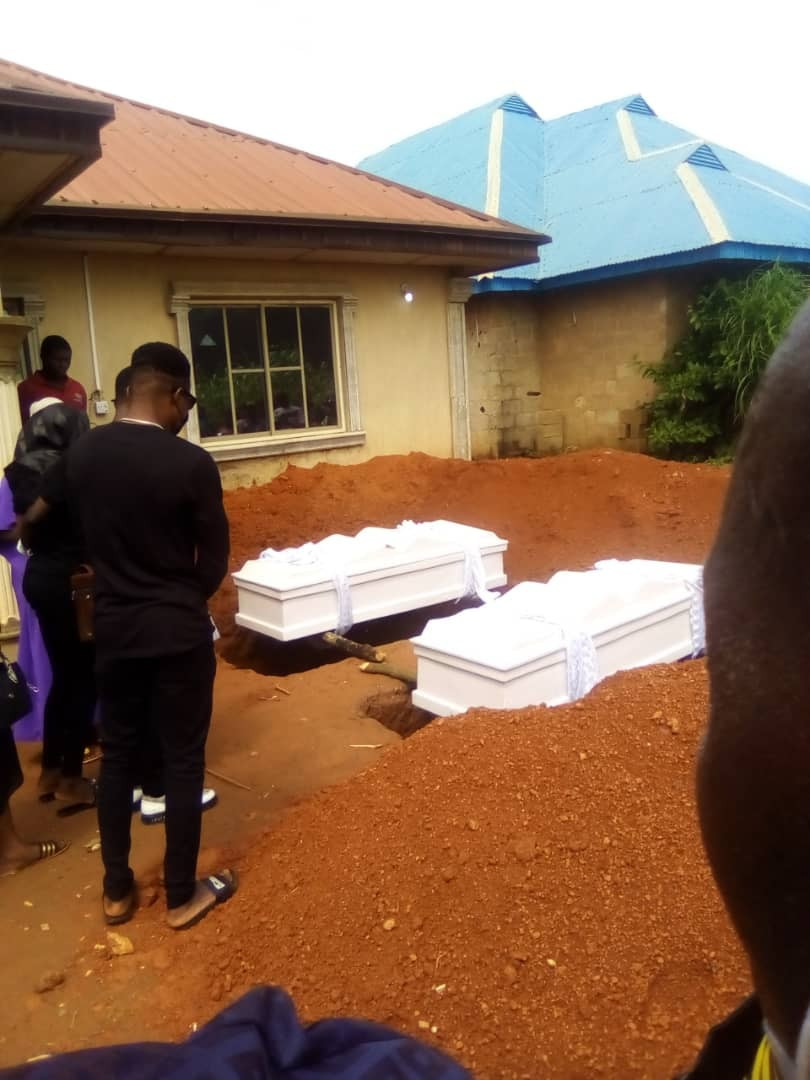 Couple found dead in Osun laid to rest as police interrogate their 13-year-old Beninese househelp