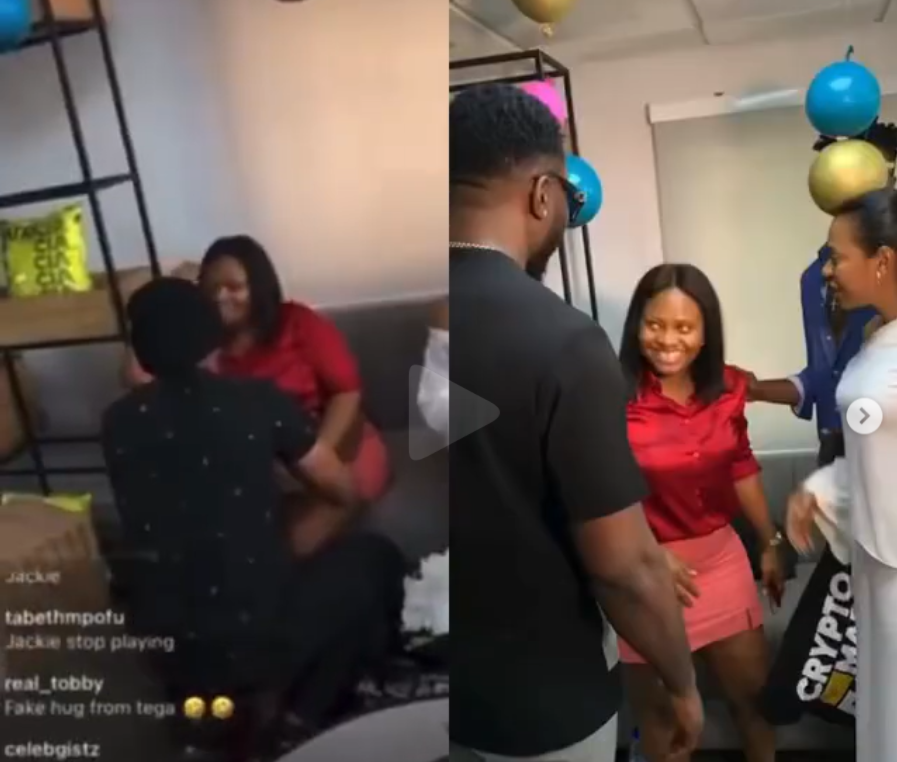 #BBNaija: Tega spotted with other former housemates after a friend claimed she?s no longer reachable following the deactivaion of her social media accounts (video)