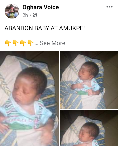 Baby found abandoned in Delta community