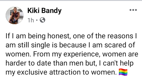 """""""One of the reasons I am still single is because I am scared of women"""" - Popular Cameroonian lesbian, Kiki Bandy says women are harder to date than men"""