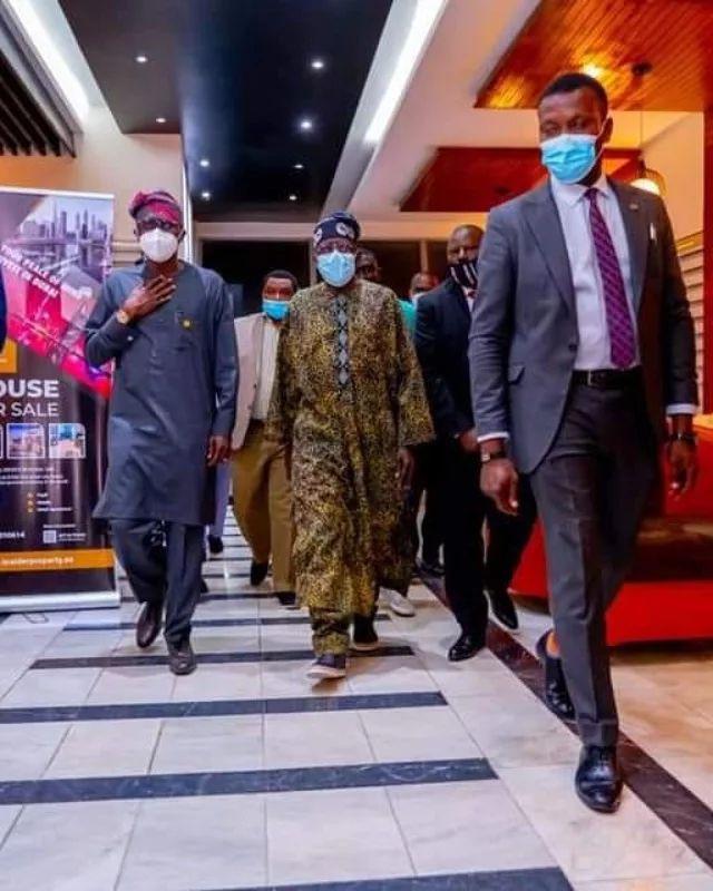 Tinubu returns to Nigeria from the UK (photos)