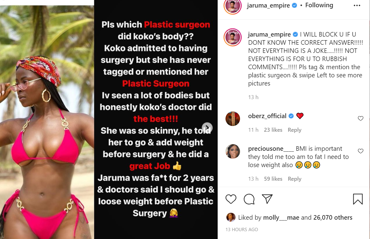 Keep my name out of your mouth, you know all you said about me previously. Go find your own doctor - BBNaija