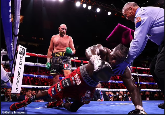 Deontay Wilder is rushed to hospital after being beaten by Tyson Fury