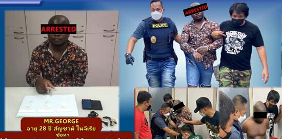 28-year-old Nigerian man arrested for selling drugs in Thailand