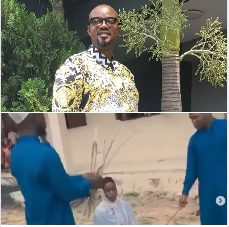 This is brazen display of barbarism - Actor Charles Inojie reacts to viral video of female and male Islamic students being flogged mercilessly by their Islamic teachers (video)