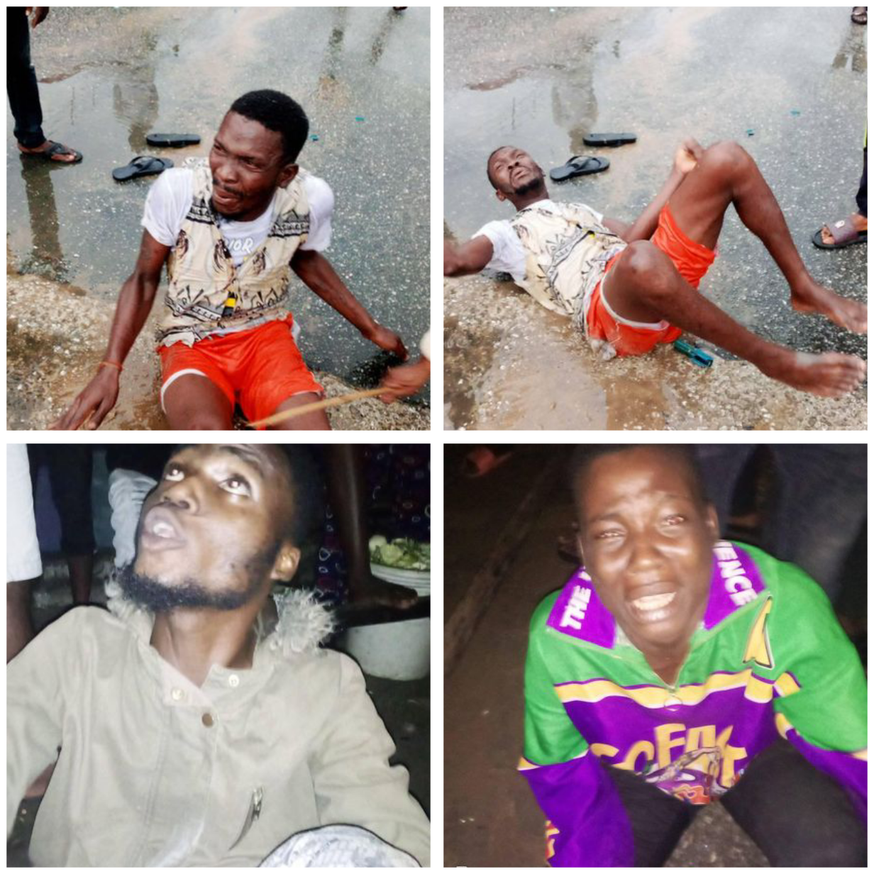 Three suspected kidnappers arrested and beaten for allegedly abducting a little boy in Bayelsa