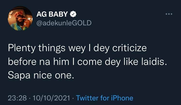 I now like most of the things I used to criticize because I was broke - Adekunle Gold
