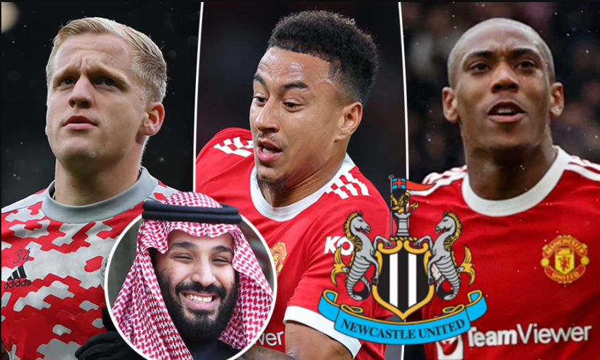 Newcastle United 'plotting a transfer raid for four Manchester United players following £305m Saudi takeover