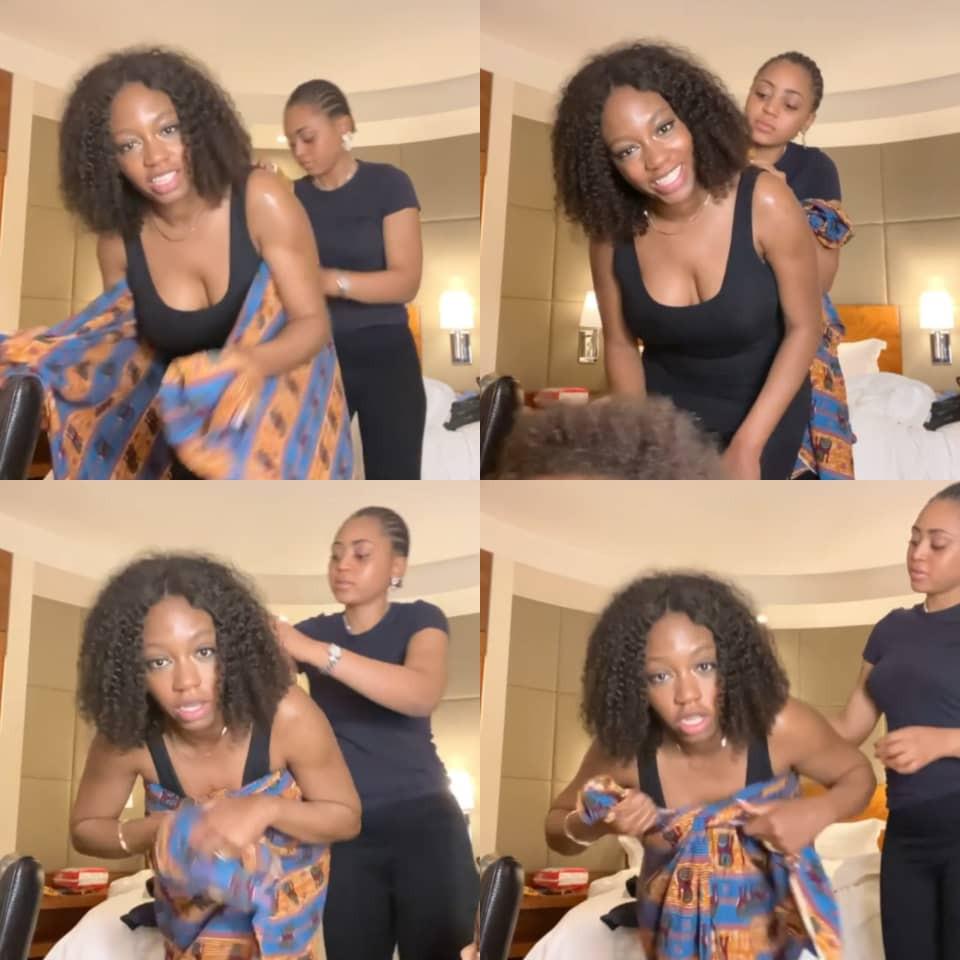 Both of you need to be taught- Nigerians react to video of actress Regina Daniels teaching Khafi Kareem how to