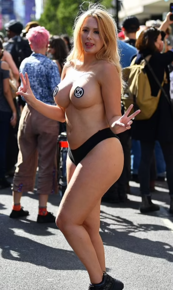 Climate change protester says she