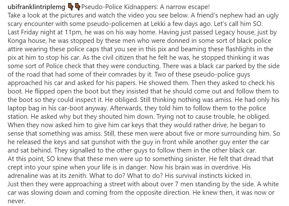Man wrestles fake policemen who insisted on driving his car to their station after going through his car?s documents and boot (video)