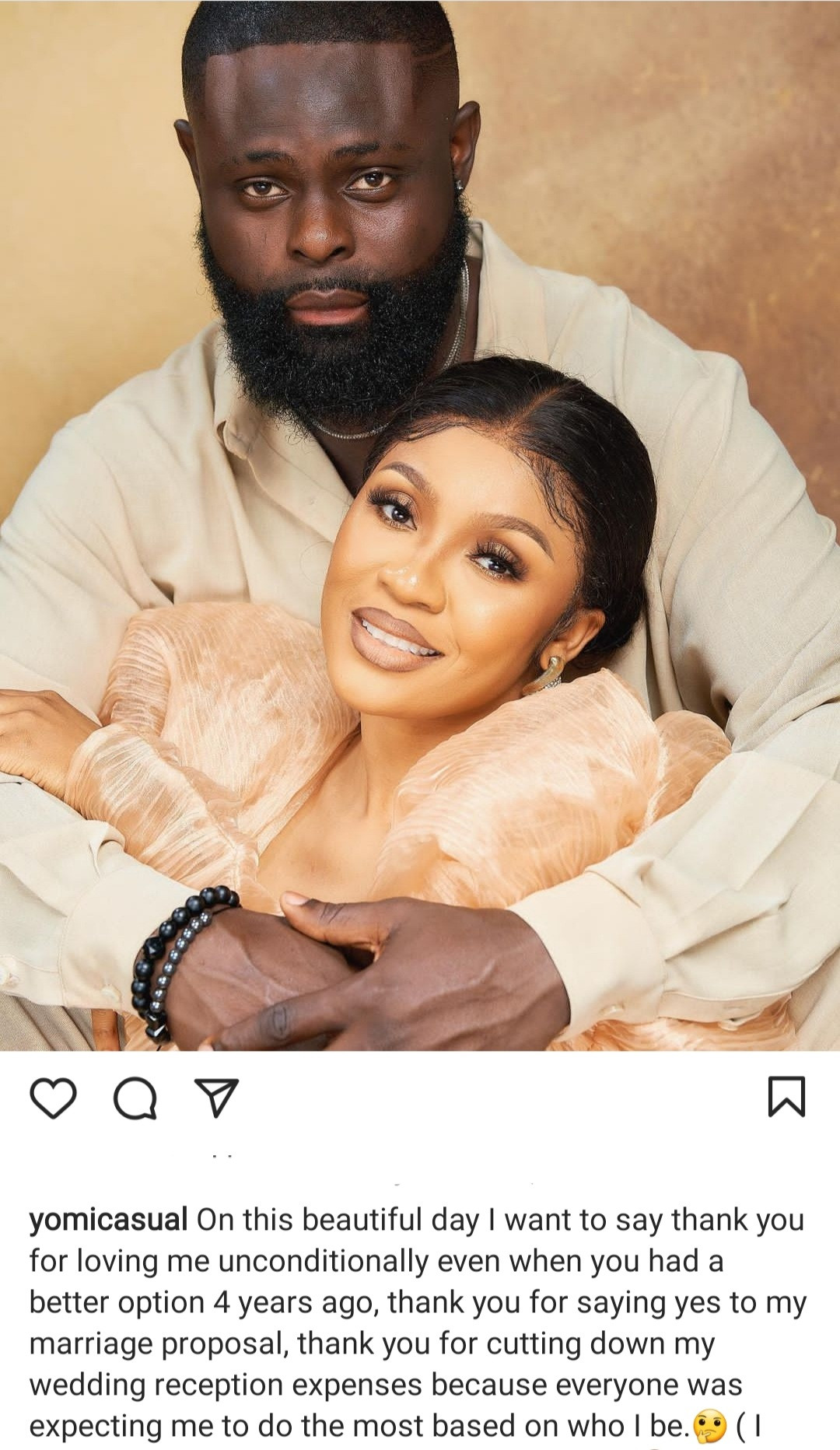 """""""Giving birth to our kids abroad is my biggest achievement ever"""" Yomi Casual thanks wife, Grace Makun, as they celebrate wedding anniversary"""