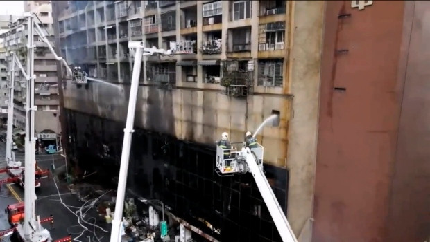 46 people killed after fire tears through 13-story residential building in Taiwan (Photos)