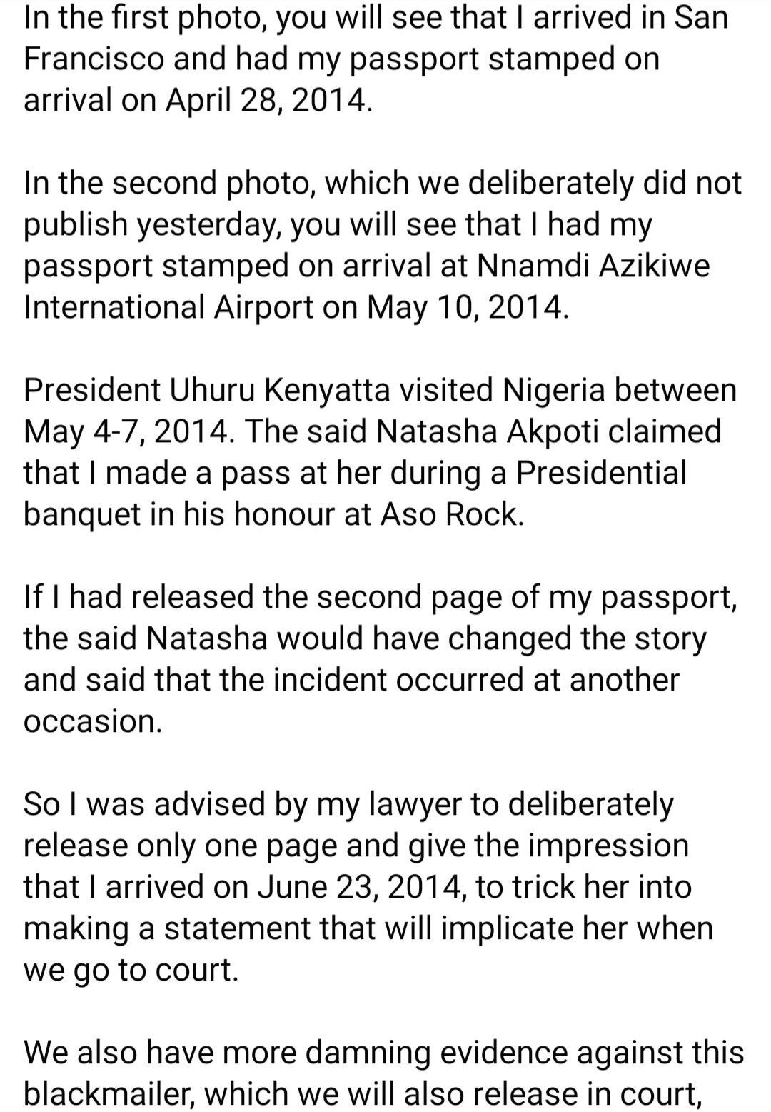 Reno Omokri offers $50,000 to anyone who can provide photo of him at the Aso Villa event where Natasha Akpoti claimed he made a pass at her