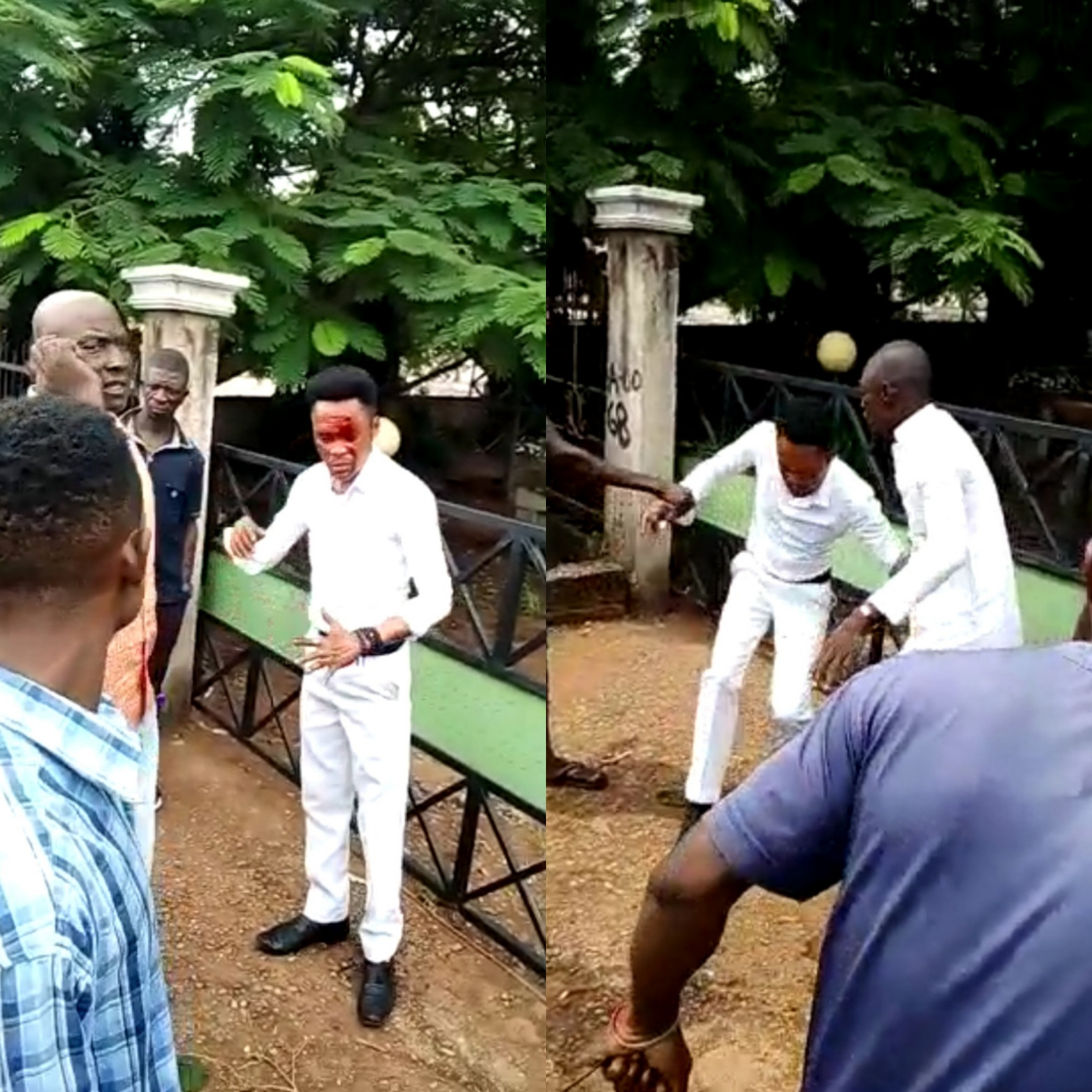 Pastor almost lynched after he was accused of stealing a phone (video)
