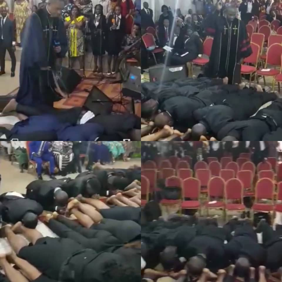 """""""Some preachers are agents of lucifer""""- Victor Osuagwu reacts to viral video of a clergyman flogging his members on their butt"""