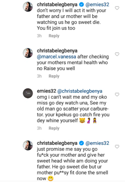 """""""I will do it with your father and your mother will be watching us"""" Actress Christabel Egbenya rolls in the mud with Instagram trolls"""