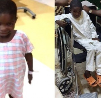 Photos: Six-year-old Boko Haram attack victim walks again after a successful spinal cord surgery